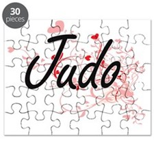 Judo Artistic Design with Hearts Puzzle