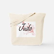 Judo Artistic Design with Hearts Tote Bag