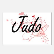 Judo Artistic Design with Postcards (Package of 8)