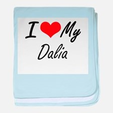 I love my Dalia baby blanket