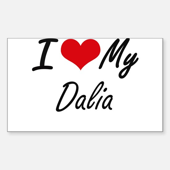I love my Dalia Decal