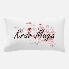 Krav Maga Artistic Design with Hearts Pillow Case