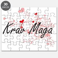 Krav Maga Artistic Design with Hearts Puzzle