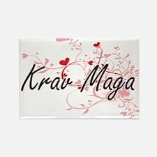 Krav Maga Artistic Design with Hearts Magnets