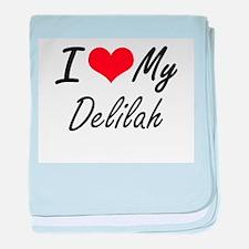 I love my Delilah baby blanket