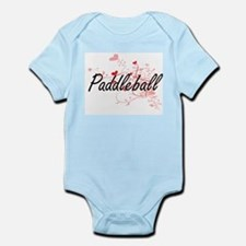Paddleball Artistic Design with Hearts Body Suit