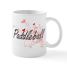 Paddleball Artistic Design with Hearts Mugs