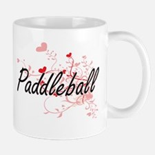 Paddleball Artistic Design with Hearts Mugs