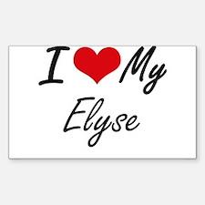 I love my Elyse Decal