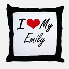 I love my Emily Throw Pillow