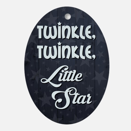 TWINKLE, TWINKLE... Oval Ornament