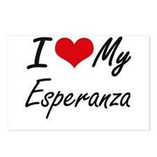 I love my Esperanza Postcards (Package of 8)
