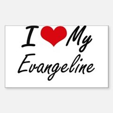 I love my Evangeline Decal