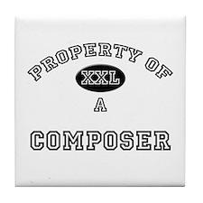 Property of a Composer Tile Coaster