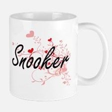 Snooker Artistic Design with Hearts Mugs