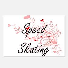Speed Skating Artistic De Postcards (Package of 8)