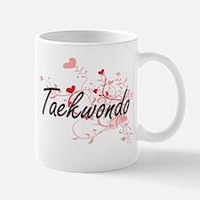 Taekwondo Artistic Design with Hearts Mugs