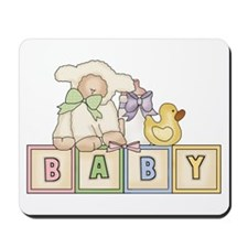 Baby Blocks Lamb Mousepad