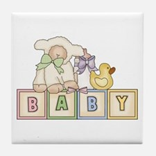 Baby Blocks Lamb Tile Coaster