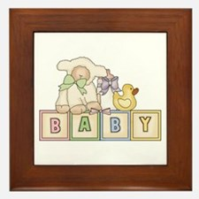 Baby Blocks Lamb Framed Tile