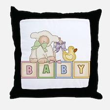 Baby Blocks Lamb Throw Pillow