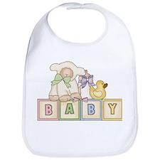 Baby Blocks Lamb Bib