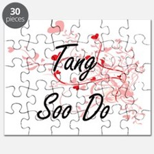 Tang Soo Do Artistic Design with Hearts Puzzle