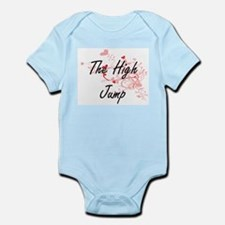 The High Jump Artistic Design with Heart Body Suit