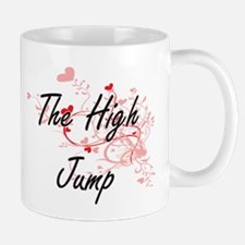 The High Jump Artistic Design with Hearts Mugs