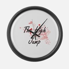 The High Jump Artistic Design wit Large Wall Clock