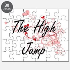 The High Jump Artistic Design with Hearts Puzzle