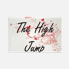 The High Jump Artistic Design with Hearts Magnets
