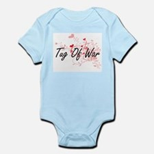 Tug Of War Artistic Design with Hearts Body Suit