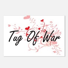 Tug Of War Artistic Desig Postcards (Package of 8)