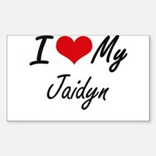 I love my Jaidyn Decal