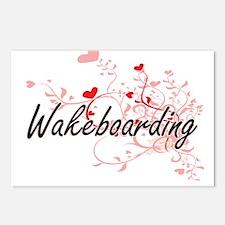 Wakeboarding Artistic Des Postcards (Package of 8)