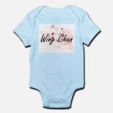 Wing Chun Artistic Design with Hearts Body Suit