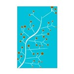 Contemporary Retro Floral Mini Poster Print