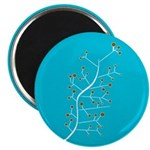 "Contemporary Retro Floral 2.25"" Magnet (100 pack)"