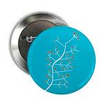 Contemporary Retro Floral Button