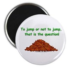 "Autumn Leaf Question 2.25"" Magnet (100 pack)"
