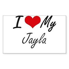 I love my Jayla Decal