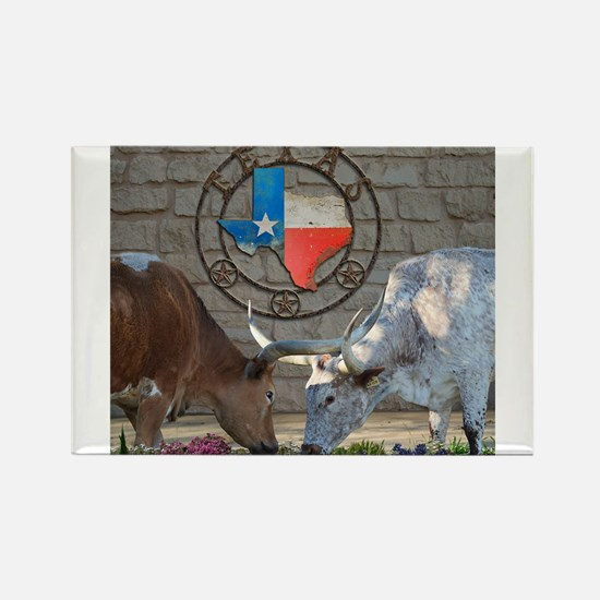 Texas Longhorns In Love Magnets