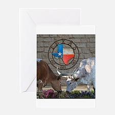 Texas Longhorns In Love Greeting Cards