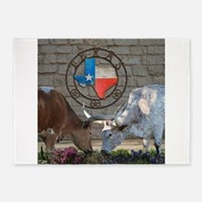 Texas Longhorns In Love 5'x7'Area Rug