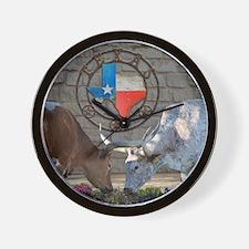 Texas Longhorns In Love Wall Clock