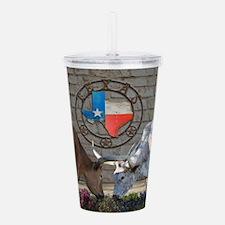 Texas Longhorns In Love Acrylic Double-wall Tumble