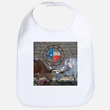 Texas Longhorns In Love Bib