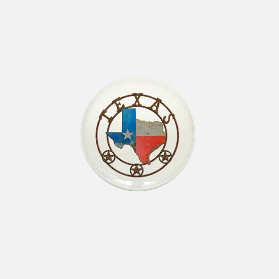 Texas Wrought Iron Barn Art Mini Button