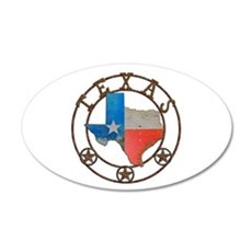 Texas Wrought Iron Barn Art Wall Decal
